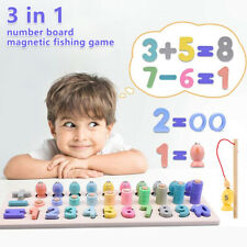 Educational Montessori Math Toys Game Counting Board Preschool Learning Kids