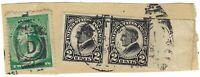 US 1923 Black Harding 2 cents Imperf Used stamps scott 611 & 2 cents Washington
