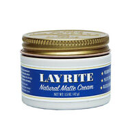 Layrite Natural Matte Cream TRAVEL SIZE 1.5 oz Pomade Hair Styling Medium Hold