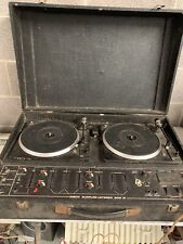 Vintage Disco Supplies Stereo 200  DJ turntable deck Twin Double