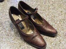 "Stuart Weitzman vintage woman's shoe, size 6 B. Brown 2.5"" heel.Classic buckle"