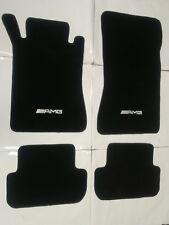 For 03-09 Mercedes Benz W209 Clk Black Nylon Floor Mats Carpet 4Pc W/ Emblem4 (Fits: Mercedes-Benz)