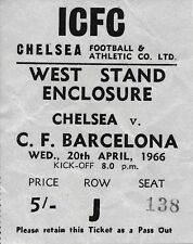 Chelsea Football European Club Fixture Tickets & Stubs