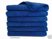 "6 (Six) ROYAL BLUE MICROFIBER CLEANING WASH CLOTH TOWEL 16""x16"" 40x40cm 300GSM"