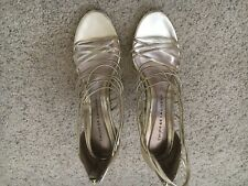 CHINESE LAUNDRY Strappy Gold Heels Size 10M