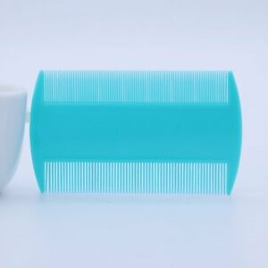 2 x BLUE Plastic Ultra Fine Nit LICE Comb Children Hair nit remover Dual sides