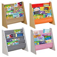Kids Wooden Bookshelf Bookcase Bedroom Playroom Storage Rack Book Toy Organizer