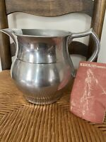Vintage Wilton Armetale RWP Pewter Pitcher, Made in The USA