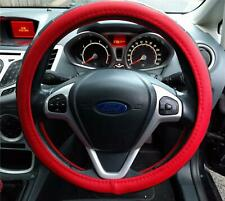 Style And Comfort Steering Wheel Cover Red / Black Soft Leather Look For Renault