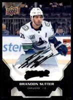 2020-21 UD MVP Super Script Black #115 Brandon Sutter 5/5 - Vancouver Canucks