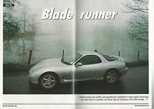 1993 MAZDA RX-7 Road Test article, from British auto magazine, rotary engine RX