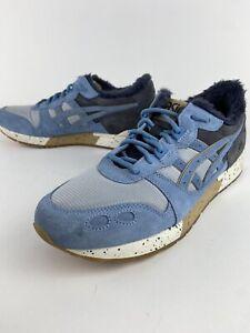 ASICS Men's 10.5 GEL-Lyte Shoes 1191A326 Blue Faux Fur Lined -NICE!!