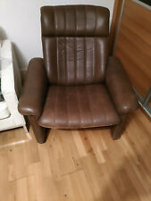 De Sede DeSede DS-50 DS50 Adjustable Lounge Chair in Soft Brown Leather