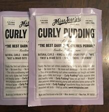 Two (2) Miss Jessie's Curly Pudding Sample/Travel Packs & Product Guide!