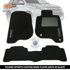 Custom Made BLACK Floor Mats MITSUBISHI PAJERO SPORTS GLX GLS EXCEED 1/2016-19