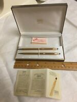 14 KT Gold filled Cross Pen and Pencil Set, Ladies, Made in USA Original Box Tag