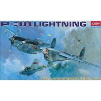 Academy P-38 Lightning 1:48 plastic model airplane kit new 4 versions 12282