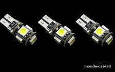 """3x lampada luci posizione t10 hyper led 5 SMD CANBUS NO-ERROR """"BLU"""" auto"""