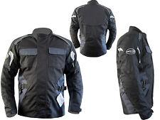 Motorrad Männer Wasserdicht CE Geschützt Cordura Textil Jacke grau schwarz