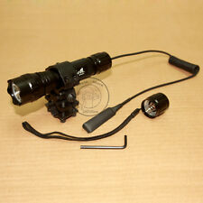 UltraFire Tactical WF-501B CREE XM-L T6 LED 1Mode Flashlight Torch + Mount Set