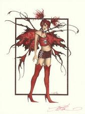 "Amy Brown Print Fairy Catastophe Punk Signed Fantasy Mayhem 8.5""x11"" New"