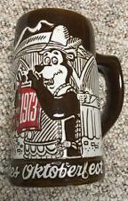 Vintage Hamm's Beer Stein Mug 1973 Oktoberfest Salutes Ceramarte Brazil Prosit
