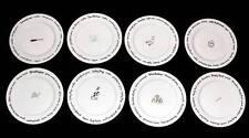 8 Pottery Barn BAR LINGO & Pictures Drinks Recipes Salad / Dessert Plates NWOT