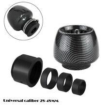 """Straight Scooter Moped Air Filter Cleaner 1.1""""-1.9"""" Clamp-on Carbon Fiber Look"""