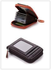 Genuine Leather Blocking Wallet Credit Card Holder Case Thin Pocket Men/Women