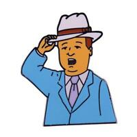 King Of The Hill Bobby Hill As Southern Gentleman Lapel Pin