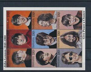 LO43933 Tanzania John Lennon fp good sheet MNH