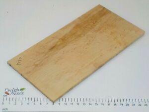 Curly or Silky Maple wood board. 118 x 240 x 6mm. Birdseye, burr, pippy. 3737