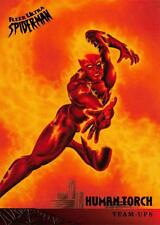 HUMAN TORCH / Spider-Man Fleer Ultra 1995 BASE Trading Card #120