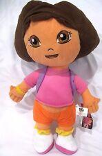 "Dora the Explorer 16"" Plush Doll Wearing Purple Mr Backpack Soft Stuffed Toy-NEW"