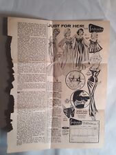 1974 Paper Ephemera. Frederick's of Hollywood Lingerie Advertisement. Fashion