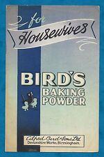 "C1930'S ADVERTISING RECIPE LEAFLET FOR ""BIRD'S BAKING POWDER"""