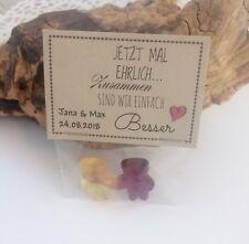 """Gastgeschenke Bärchen-Pärchen Hochzeit Tischdeko Give away Fruchtgummi *SÜß"""""""