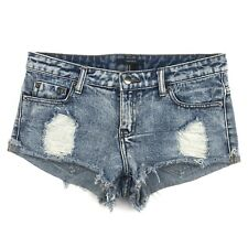 "Forever 21 Stone Washed Jean Shorts Cutoffs Frayed Hem Size 27 Destroyed W31"""