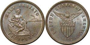 1903 US/Philippines Half 1/2 Centavo ~ UNC Details ~ Allen#1.01 ~ MX920