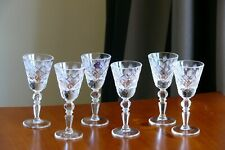 DIAMOND CUT pattern SHOT (50ml) High quality CRYSTAL glasses, Set of 6, Russia