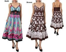 PLUS SIZE BROWN FUCHSIA/MULTI DAY EVENING WEAR DRESS 1X 2X 3X