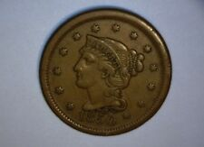 1850 LARGE CENT, BRAIDED HAIR, >>HIGHER GRADE<< NICE ! US  COIN