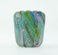 Murano Glas Dino Martens AVeM Italy Tutti Frutti rest of the day Vase Teelicht