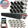 Sikker 16 Ch Channel HDMI DVR 12 x 1080P Surveillance Camera Security System 2TB