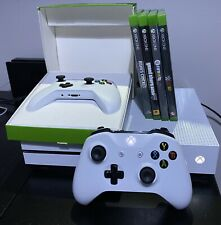 Microsoft Xbox One S 500GB Console White, 2 Controllers & Games