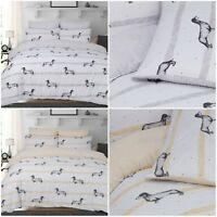 Sausage Dogs Animal Print Reversible Duvet Quilt Cover Bedding Set All Sizes