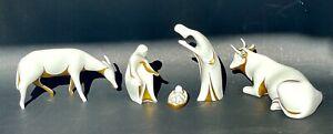 Verbano Porcelain Set Signed Italian Design White Gold Paint ANTONIA CAMPI Mid C