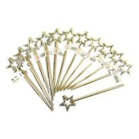 12 x SILVER FAIRY STAR WAND PRINCESS GIRLS GIFT FAVOR BIRTHDAY PARTY BAG FILLERS