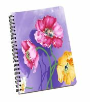 New Original Floral Purple Hard Paper Cover Blank Journal Diary Note Book