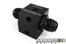 Improved Racing Compact Dual Inline Oil Sensor Adapter Block, -12AN